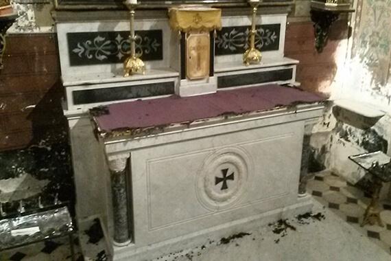 Eglise de Puget-Ville profanée